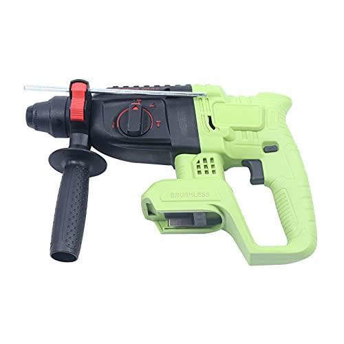 Atornillador de impacto inalámbrico de 21 V, potencia de herramienta, para artesanos, hogar, par de torsión, 6200/min, color verde, negro (pilas incluidas)