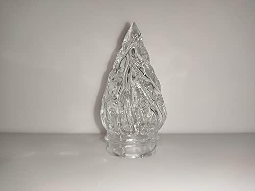 Pilla   Fiamma in vetro trasparente di ricambio per lampade votive da cimitero   Altezza 12 cm, Diametro 6 cm, Diametro innesto 5 cm