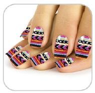 Faux ongles multicolores