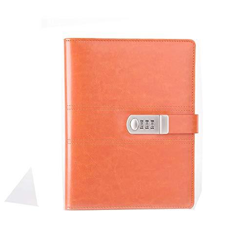 Cuaderno A5 con contraseña de primavera con cierre de libro de diario, tamaño 17,3 x 23,3 cm. Número de artículo P093-1 (naranja)