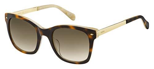 Fossil Damen Fos 2086/S Sonnenbrille, Mehrfarbig (Havanbeig), 51