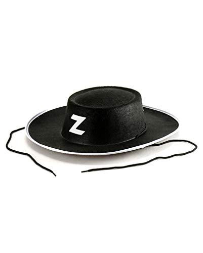 Noir Zorro Hat