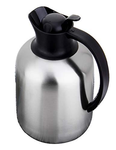 SJQ-coffee pot CafetièRe Grande Capacité en Acier Inoxydable 304 - Bouteille d'eau EuropéEnne IsoléE Portable - Double Isolation - 13 Tasses - Thermos pour Voiture D'ExtéRieur - Argent