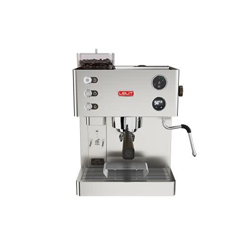 Lelit PL82T Macchina per Espresso con Macinacaffè, 1400 W, 0.35 kg, Acciaio Inossidabile, Argento