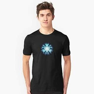 Camisa Camiseta Masculino Blusa Algod Coração Homem De Ferro Tamanho:P;Cor:Branco
