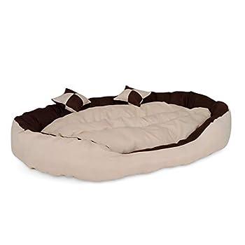 dibea Lit pour chien canapé lavable avec coussin réversible différentes tailles et couleurs