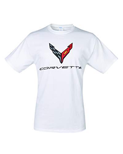 C8 Corvette Next Generation Carbon Flash T-Shirt (X-Large, White)