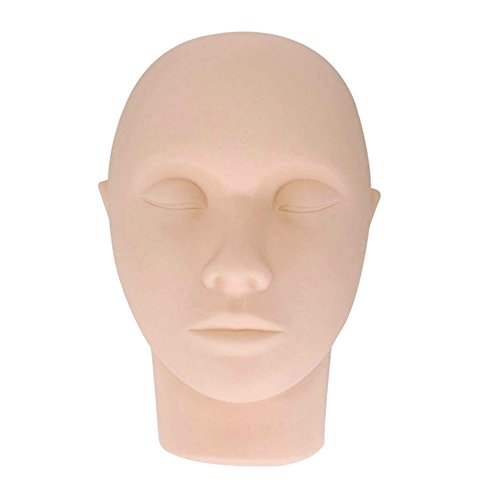 Buqikma Eyelash Practice Head Pro Mannequin Practice Training Head Cosmetology Face Head for Eyelashes Makeup (Mannequin Head)