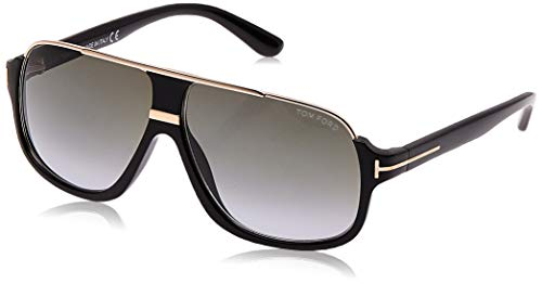 Tom Ford Herren FT0335 01P 60 Sonnenbrille, Schwarz (Nero Lucido/Verde Grad)