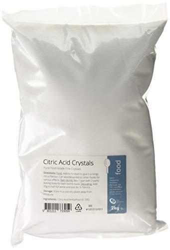 Citric Acid 2kg - 100% Pure Food Grade Fine Crystals