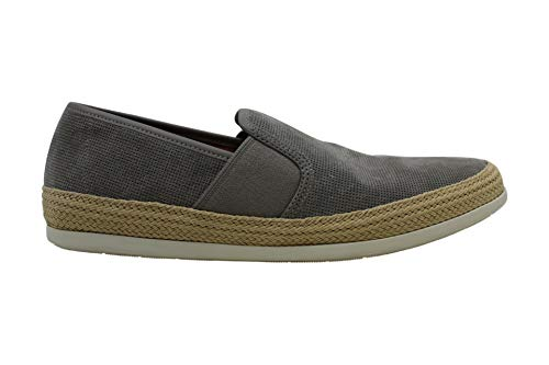 Vince Mens Chad Leather Closed Toe Slip On Shoes, Grey 1, Size 10.0