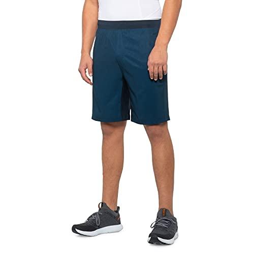 Gaiam Men's Yoga Shorts - Performance Heather Gym & Workout Short w/Pockets
