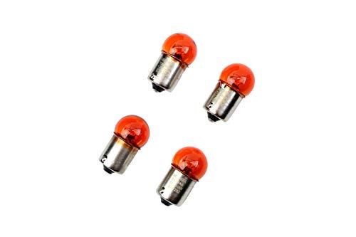 4 x Blinker Leuchtmittel Lampe Orange 12V 10W BA15s - E-ZEICHEN für Motorrad Roller Quad