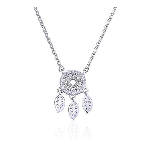 Accesorios de época S925 collar de plata de ley con accesorios principales de circón colgante de cadena de la clavícula de la señora Vasijas de barro pintadas ( Color : Chain , Size : 925ag alloys )