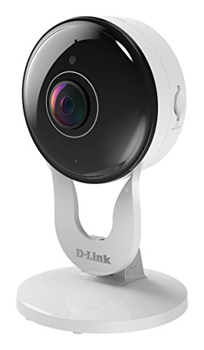 D-Link DCS-8300LH Telecamera Grandangolare 140° ,Wi-Fi, Full HD, Audio a due vie, Slot per Micro SD, Registrazione Cloud Gratuita, Funziona con Alexa, Bianco