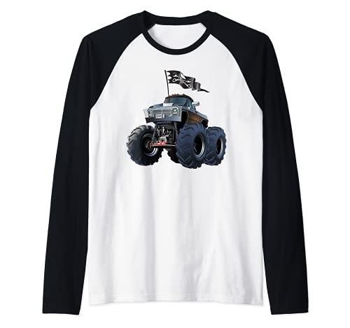 Monster Truck, Monster Trucks Rule Tee shirts, Monster Cars Camiseta Manga Raglan