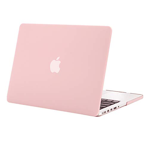 MOSISO Custodia Rigida Compatibile con MacBook PRO Retina 15 Pollici A1398(Versione metà 2015/2014/2013/Metà 2012) con Display Retina No CD-Rom,Plastic Case Cover Rigida Copertina, Quarzo Rosa