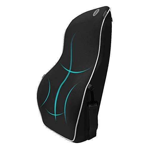 QBUC Lumbar Support Back Support Pillow for Car Memory Foam Orthopedic Backrest Seat Cushion for Car Seat,Office Chair,Sofa and Wheelchair Designed for Back Pain Relief (Black)