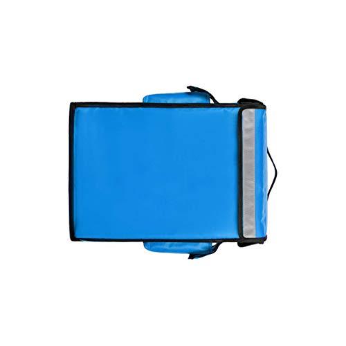 HUI JIN Enfriador de comida para picnic, 42 l, con aislamiento térmico, portátil, para pizza, color azul
