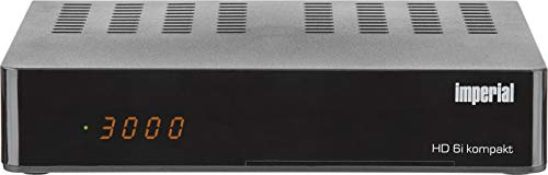 IMPERIAL HD6i kompakt HD Sat Receiver - Smart (DVB-S2, Alexa Voice, Sat to IP, Web-Portal, PVR Ready) schwarz