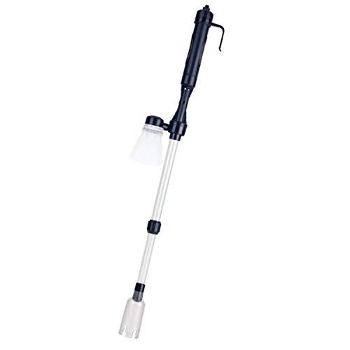 DaMohony 水フィルター バッテリー式 サイフォンポンプ 砂フィルター 伸縮パイプ 水槽クリーナー 水槽掃除機 クリーニングツール
