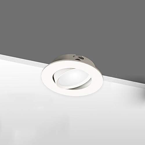 GLBS 5W/7W/12W Einfache Mini Multiple Spezifikationen Ultradünne COB Spotlight Embedded Verstellbare Einbau Anti-Fog-Down Aluminium Drehbare LED Deckenverkleidung-Licht for Flur Garderobe Küche