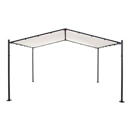 SORARA Pergola Exterieur | Beige | 400 x 350 cm / 4 x 3.5m | pour Jardin, Patio, carport