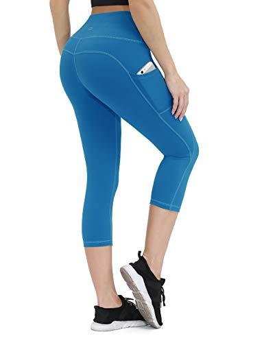 Yoga-Hose für Frauen mit Taschen, Kompressions-Workout-Leggings, Bauchkontrolle -  -  Groß