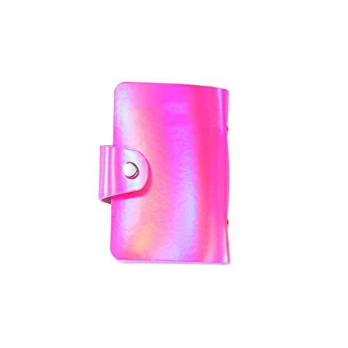 Minkissy Pochette pour Carte de Crédit Glitter Card Organizer Holder Sac de Rangement Polyvalent pour Carte D'identité Modèle D'impression D'ongles Et Plus de Sac de Rangement Rose