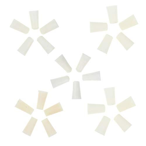 P Prettyia 25 Unidades Tapones Cónicos de Silicona Tapón de Goma 9-22 mm para Uso Laboratorio Hogares e Industriales