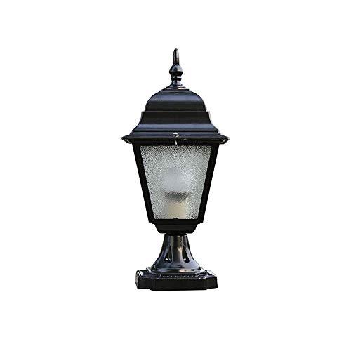 MXVE Säulen-Scheinwerfer-Tür-Pfosten-Licht-Landhaus-europäischer Art-Garten-Licht-Garten führte großes Tür-Licht im Freien wasserdichte Wai-Wand-Licht-Landschaftslicht-Säulen-Lampe E27