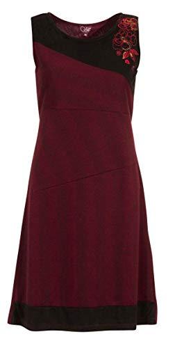 Coline Ärmelloses Kleid sehr schick und warm (Himbeere, XXL)