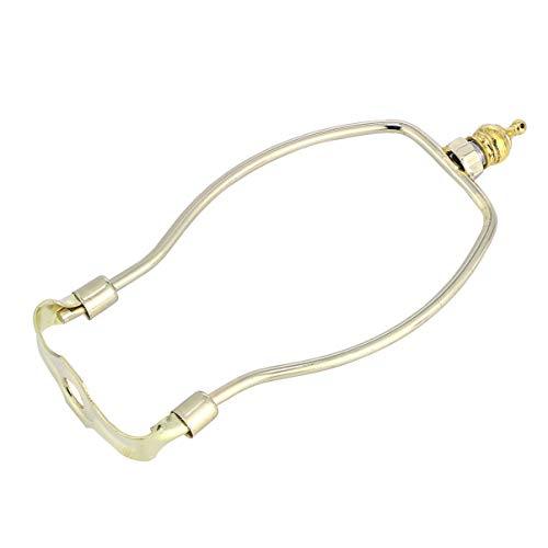 Uonlytech 6 Zoll Lampe Harp Shades Legierung Horn Lampe Frame Lampenschirm Halterung mit Sattel für diy Handwerk Tisch Stehlampen