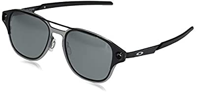 Oakley Men's OO6042 Coldfuse Titanium Square Sunglasses, Polished Black/Prizm Black Polarized, 52 mm