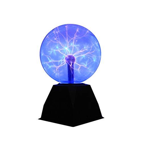 Magische Plasmakugel, Leucht Ball Elektrostatische Kugel Berührungsempfindliche Blitzkugel,Physik Blitzlicht Plasmalampe SphäreLichteffekte,6 Zoll / 8 Zoll Plasmakugel, 12V Spannungsadapter.