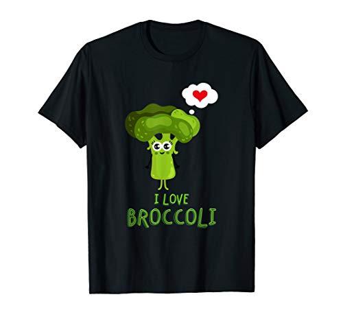 I love BROKKOLI Obst und Gemüse T-Shirt