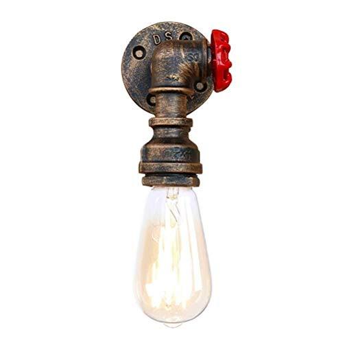 Wandstaal waterpijp wandlamp stoom-punk-lamp-licht Deer schijnwerper hoop puur huis milieu eenvoudig retro design metaal (ijs) 24 * 7 cm wandverlichting