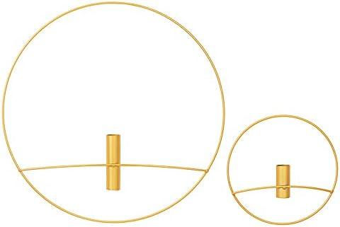 2 Pcs Minimalist Geometry Metal Diamete Decor shop Ring Include Superior Wall