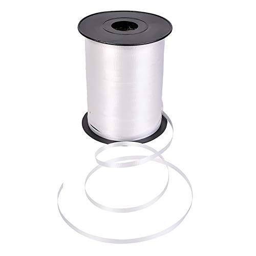 The Dreidel Company White Curling Ribbon, 500 Yards