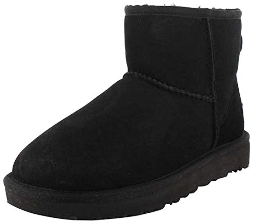 UGG Female Classic Mini II Classic Boot, Black, 5 (UK)