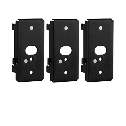 Bedycoon 3 pc Replacement Wall Mounting Bracket Compatible with Bose SlideConnect WB-50 - Black (UFS-20), Lifestyle 525 535 III,Lifestyle 600,soundtouch 300 soundtouch 520,CineMate 520 Wall Bracket