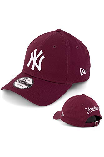 New Era Baseball Cap Basecap Herren Limited Edition mit Extra Team Stickerei auf Rückseite Kappe Schirmmütze Mütze 9 Forty Snapback (NY Yankees Maroon)