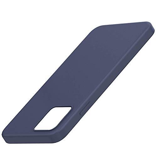 Zarfmiya Funda para 12, Funda para 12, Funda de Silicona para TeléFono a Prueba de Golpes con Forro de Microfibra (Azul Medianoche)