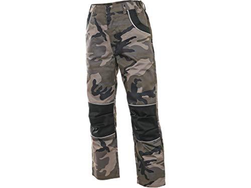 CXS Woody Kinder Arbeitshose, Kinderhose, Arbeitshose für Kinder, Gartenhose für Kinder, Arbeitshose für Jungen (Tarnung - Taillenlange Hose, 160 (Taillenlange Hose))