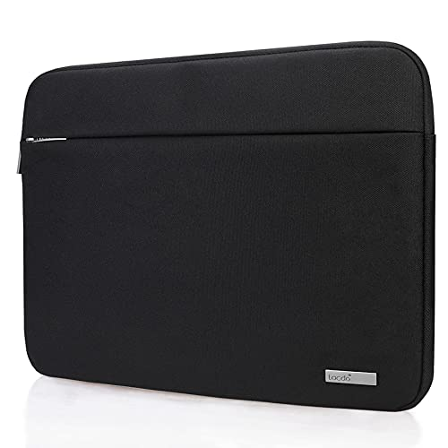 Lacdo 15.6 Inch Laptop Sleeve Computer Case for 15.6' Acer Aspire/Predator, Asus TUF FX505DT, Lenovo Ideapad 330, Dell Inspiron, ASUS ZenBook/VivoBook, HP Pavilion Chromebook Notebook Bag, Black