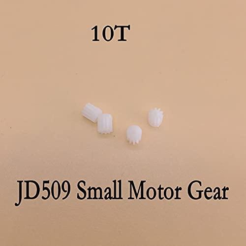 V-MAXZONE 4 pezzi come mostra 10T 10 denti piccolo motore Gear JXD JD509 JD509G JD509W Pioneer UFO FPV R/C accessori di ricambio (colore : 4 pezzi)