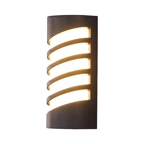 LED lámpara de pared al aire libre impermeable montado en la pared acrílico luz Ip54 gris moderno adecuado para corredor patio pasarela parque