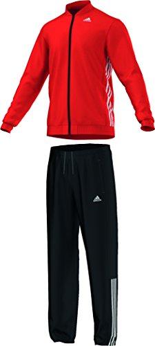 adidas Herren Trainingsanzug Tracksuit Essentials Knit, Bold Orange/White, 2, S22478
