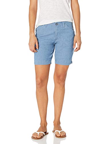 Lee Women's Regular Fit Chino Bermuda Short, Medium Chambray, 10