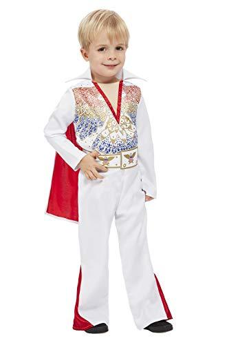 Smiffys Disfraz de Elvis para niños con licencia oficial 50933T1, blanco, edad 1-2 años